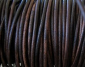 2MM Leather Cord Vintage Natural Brown Lace 4 Yards