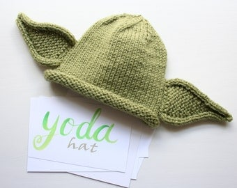 Knitting Pattern Baby Yoda Hat : Star wars baby Etsy