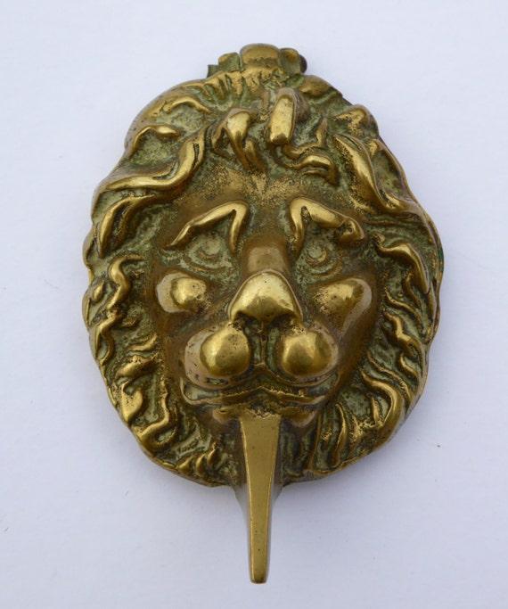 Edwardian brass door knocker lions head door by biminicricket - Brass lion head door knocker ...