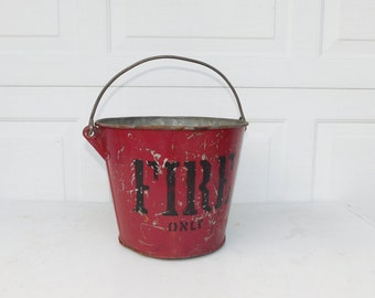 Galvanized Bucket Red Fire Bucket Galvanized Metal Galvanized Pail