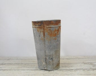 Vintage Floral Shop Flower Bucket Bucket Galvanized Bucket Metal  Bucket Metal #3