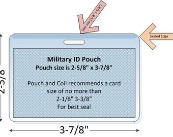 ID Tag (Military size) Laminating Pouch, Slotted (10 MIL)