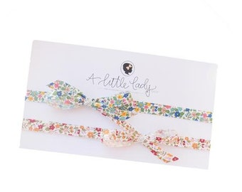 Thin Bow Ribbon Headband - Availabe in Red or Blue Floral