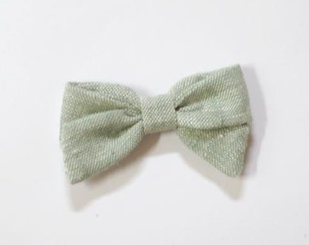 Small Pippi Bow - Darmouth - Available on one size fits all nylon elastic or clip