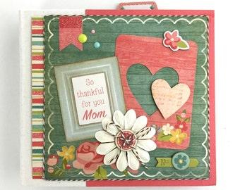 Pre-made Mini Album Scrapbook Gift for Mom Friend All Occasion