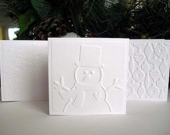 Mini Embossed Assorted CHRISTMAS Cards III