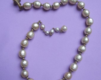 Reserved for Sondra Miriam Haskell Baroque Pearl Necklace