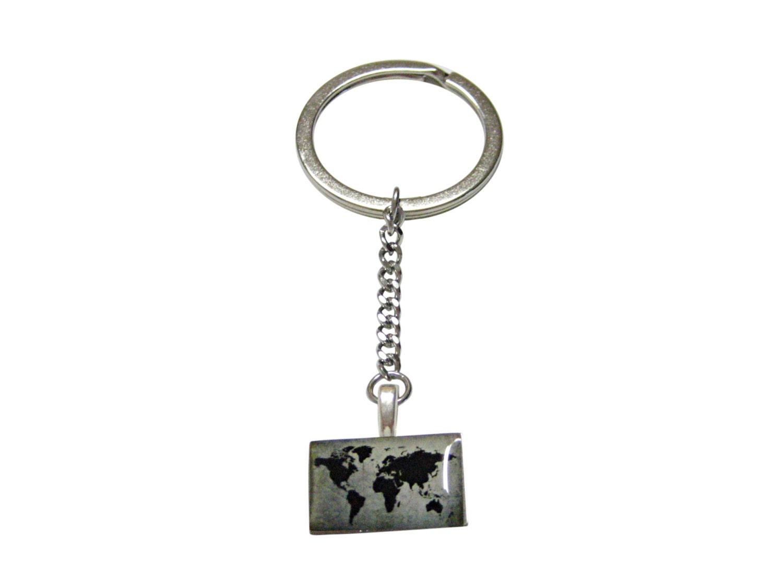Rectangular world map keychain e10190947032598942m 3000 rectangular world map keychain gumiabroncs Gallery