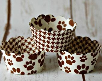 Paw Print Mini Cupcake Wrappers