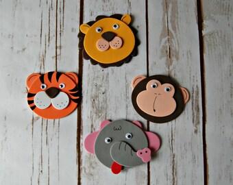 Foam Zoo/Safari Animal Craft Kit, Magnet Craft, Party Activity, Children's Crafts