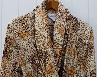 Vintage Diamond Tea Robe Retro Housecoat Mod Peignoir Evening Robe Mad Men Fashions Women's Vintage Clothes Vintage Designer Mod Negligee