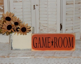 Game Room Sign Country Rustic Decor Signs Man Cave