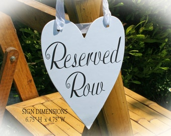 Reserved Row sign- Wedding Reserved Sign