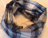 Call Me Blue Flannel Infinity Scarf