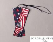 Fabric Bookmark, Patriotic Bookmark, Red White and Blue, Flag Bookmark, USA Bookmark, Reversible Bookmark