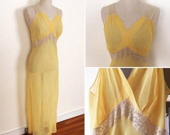 Vibrant yellow nylon negligée