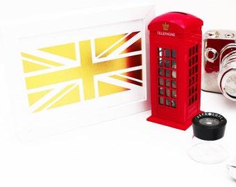 Gold Foil Print - British Flag