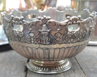 Bowl, Compote, Serving Dish, Ornate Bowl, Metal Bowl, Rogers Silver Plate, FB Rogers, Footed Bowl, Pedestal Bowl, Candy Dish, Dessert Dish