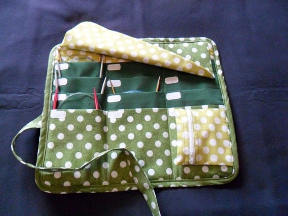 Knitting Needle Storage Case Pattern : Circular knitting needle organizer case storage holder holds