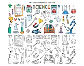 PNG Science Lab Doodle Clipart, Student Classroom School Clip Art, STEM, STEAM, Hand Drawn by Nedti