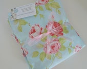 Baby Girl Shabby Chic Roses Quality Cotton Fitted Sheet for Crib/ Youth Bed