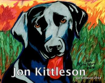 Vibrant Custom Color Pencil Pet Portrait--11x14