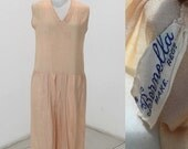 1920s silk sports dress in shell pink