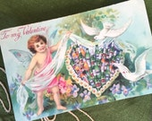 Funny Vintage Valentine Postcard; Heart of Beer; Edited Victorian Valentine; Valentine for Him; Valentine's Day for Beer Lovers