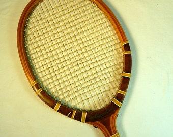 JC Higgins Vintage Tennis Racquet Wooden X-pert Sports Theme Wall Decor