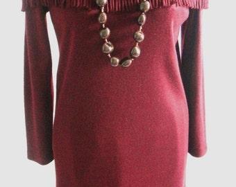 ON SALE Burgundy Nina Leonard Dress