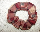 Country American flag patriotic fabric Hair Scrunchie, women's accessories, USA United States, womans scrunchies, red white blue,