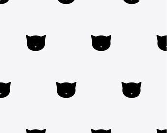 Cat Face wall decals in black