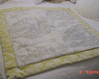 French Toile Pillowshams Euro Shams Pair Romantic Cottage Chic