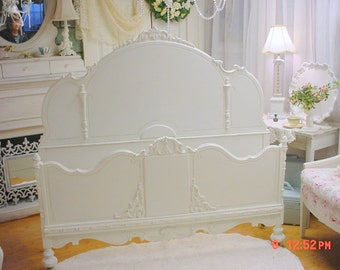 French Bed Romantic Vintage Shabby Chic Chalkpainted Cottage Chic Stunning