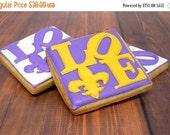Mother s Day Sale Decorated Cookies - Mardis Gras - Fleur de Lis - Love - 1 dozen