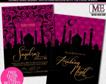Arabian Nights Birthday Party Invitations