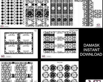 DaMask Party Decor - Instant Download