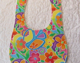 Bright Floral Baby Bib Drooler - Marked Down