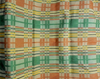 Orange and Green Vintage Fabric