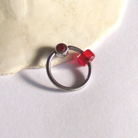 items similar to lip ring captive bead ring single