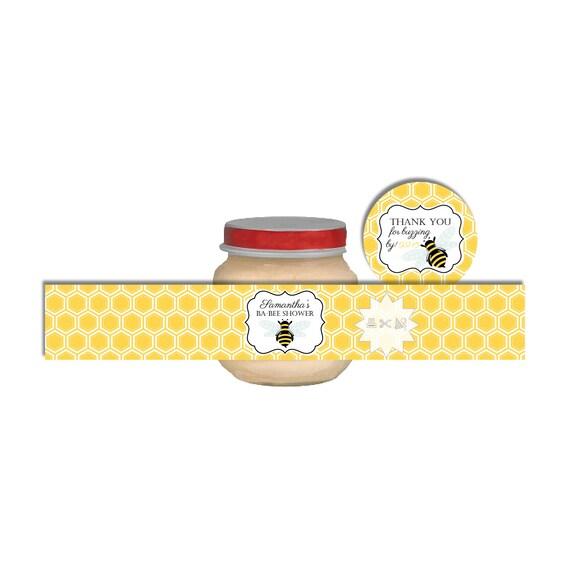bumble bee baby food jar labels honeycomb baby food jar labels baby