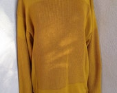 Vintage Jean Paul Gaultier Equator golden yellow sweater pullover cotton mens S womens M