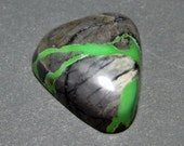 Northern Lights Mine Natural Turquoise Cabochon from Nevada, 8.67 ct.