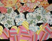 SALE HEART Die Cuts Set/27 Vibrant Designs! Acid Free Cardstock