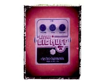 Big Muff guitar art print / music gift / rock n roll art / music room decor / guitar gift / man cave art
