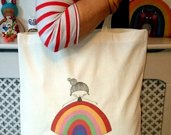 Rainbow Girl - shopper bag