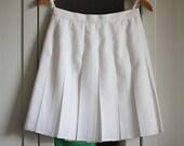 White Skirt Mini Women Vintage Pleats Plies