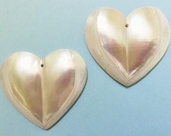 Nautilus Heart Cabochon (2 pcs.)