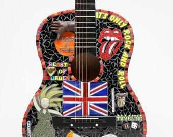 Rolling Stones Tribute Guitar - mosaic guitar