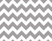 2 yards Gray chevron- Riley Blake Designs- Medium Chevron in Gray